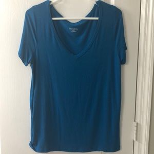 Vibrant Blue Merona V Neck T Shirt